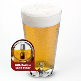 Barbuzzo Tick Tock Timer Pint Glass