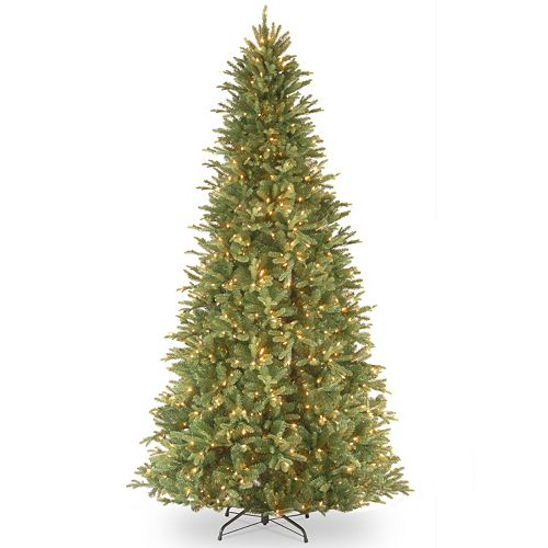 12 ft pre lit feel real tiffany fir artificial christmas tree