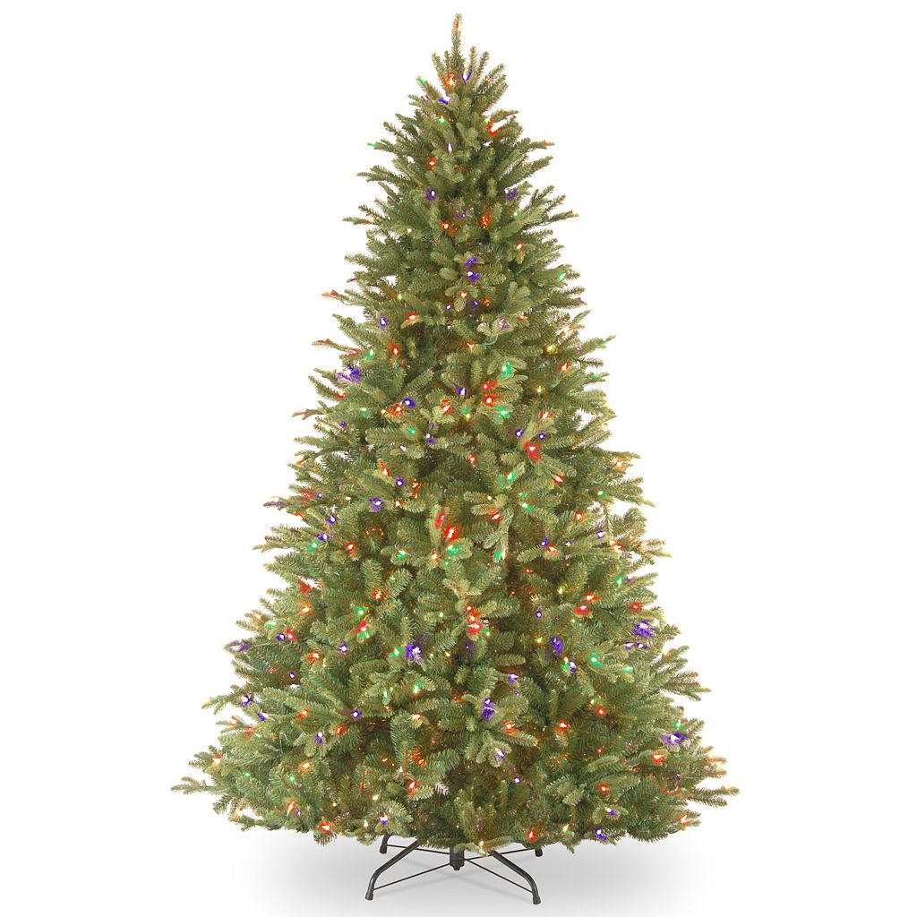 7.5-ft. Pre-Lit Multicolor LED ''Feel-Real'' Tiffany Fir Christmas Tree