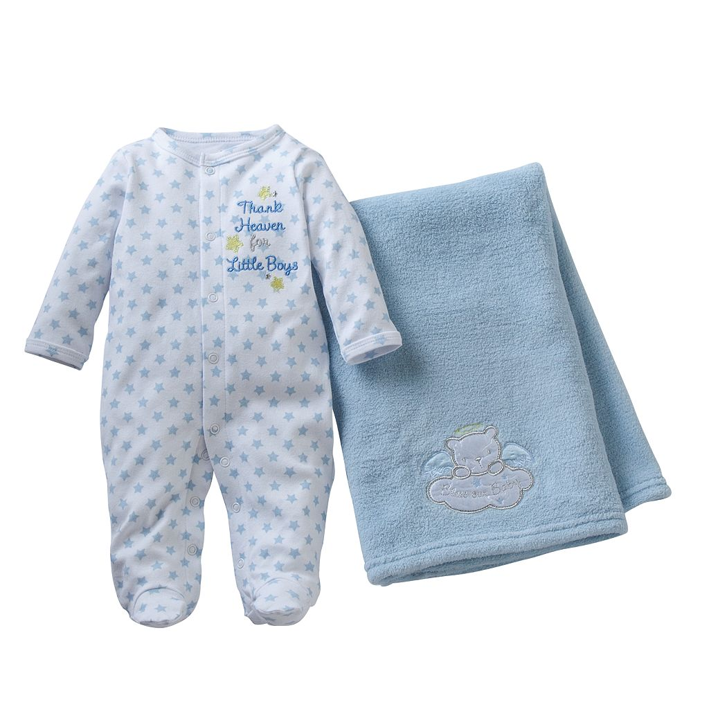 Baby Starters Baby Boy Sleep & Play & Blanket Set