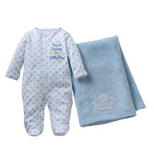 Baby Starters Baby Boy Sleep & Play & Blanket Set
