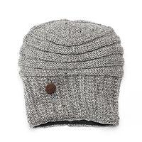 SIJJL Women's Oversized Button Wool Beanie