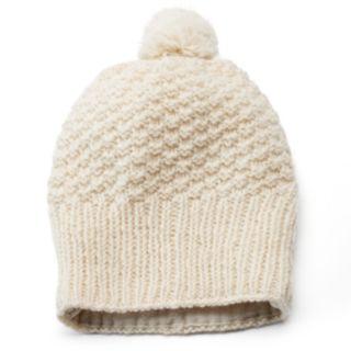 SIJJL Women's Pom-Pom Wool Beanie