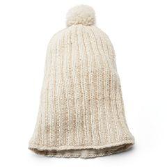 SIJJL Women's Long Slouchy Pom-Pom Wool Beanie