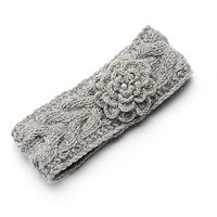 SIJJL Women's Floral Wool Knit Headband