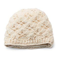 SIJJL Women's Crochet Knit Wool Beanie