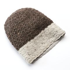 SIJJL Women's Rhinestone Wool Beanie