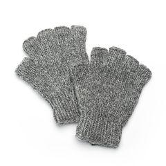 SIJJL Women's Snowflake Wool Fingerless Gloves