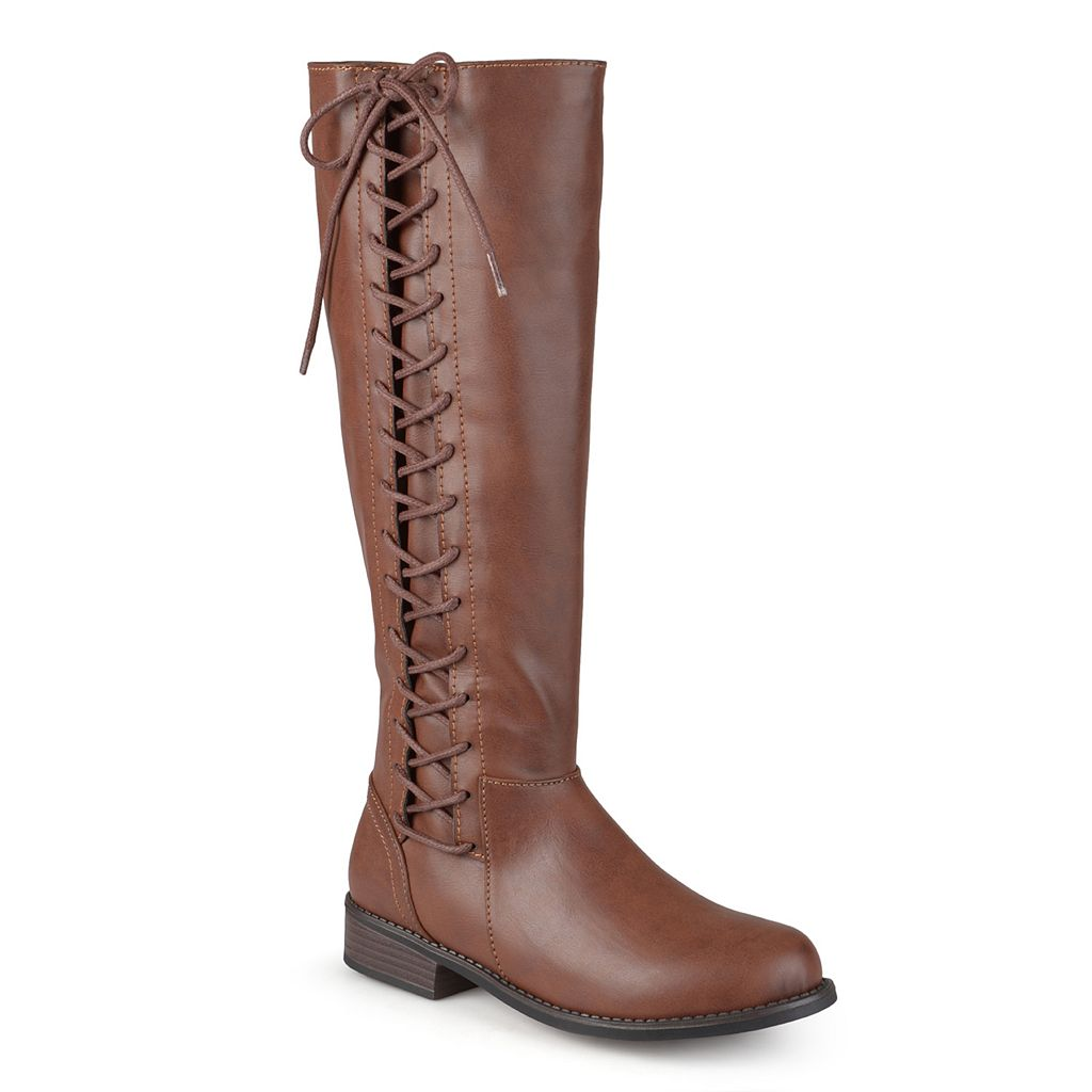 Journee Collection Cinch Women's Knee-High Lace-Up Riding Boots