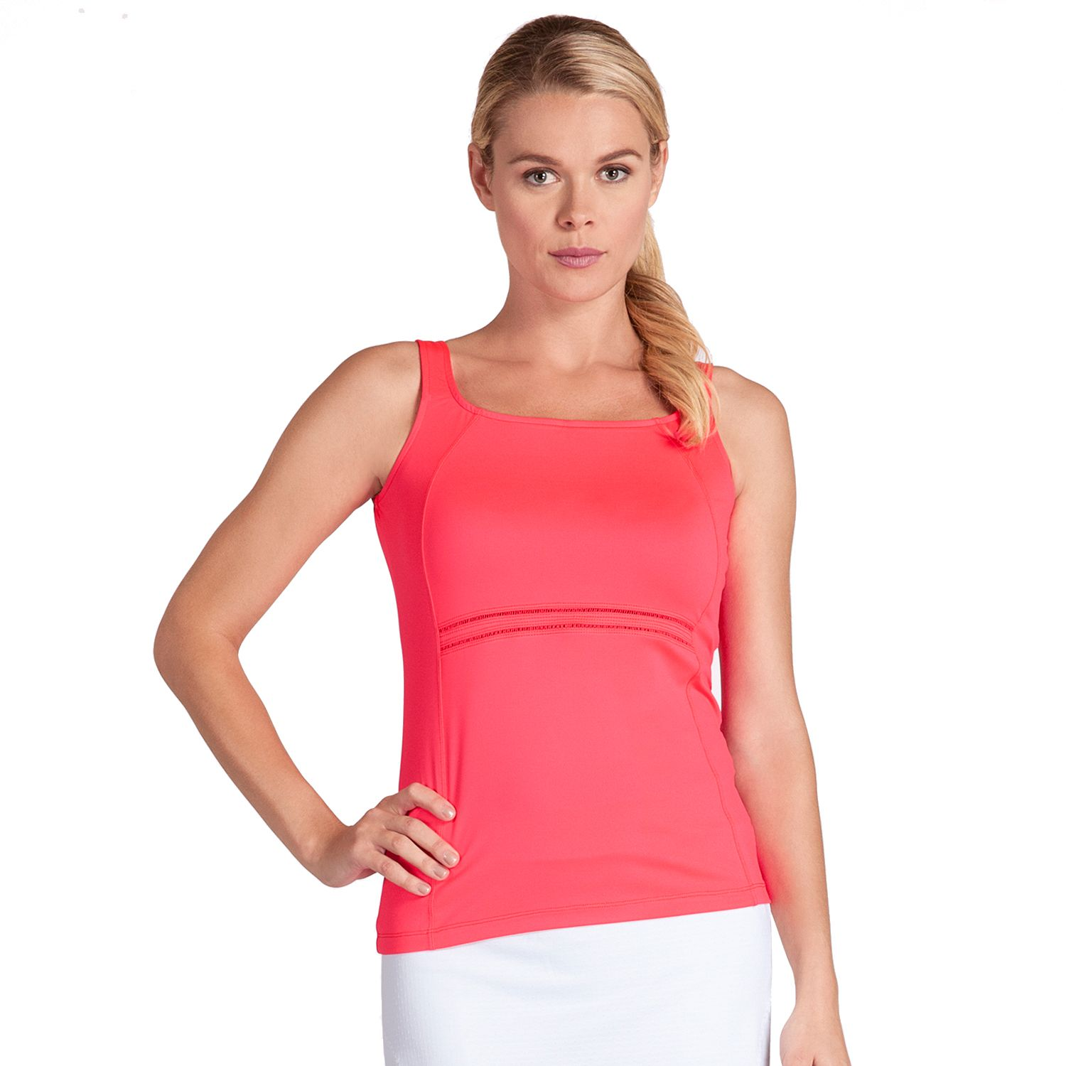 Womens Tail Coral Glam Daria Square Neck Tennis Tank
