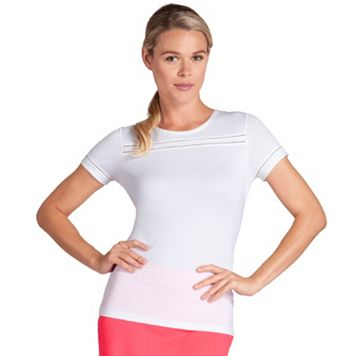 Women's Tail Coral Glam Bridget Crewneck Tennis Top