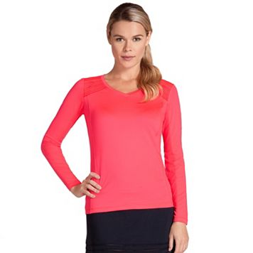 Women's Tail Coral Glam Jonie V-Neck Tennis Top