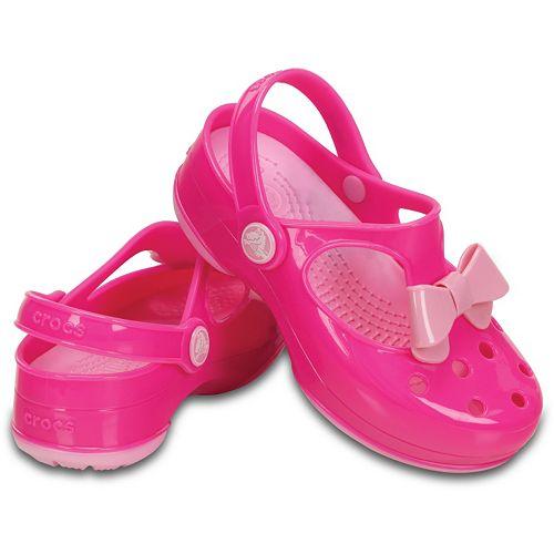 7ecac14b9b6849 Crocs Carlie Girls  Bow Mary Janes