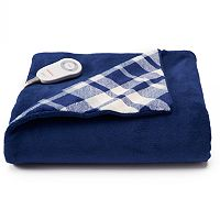 Sunbeam Heated Comfy Toes Microplush Throw with Foot Pocket