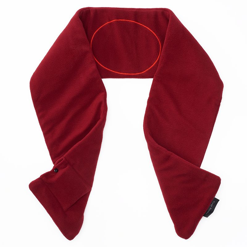 Sunbeam Fleece Heated Scarf, Adult Unisex, Red
