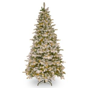 7.5-ft. Pre-Lit ''Feel-Real'' Snowy Everest Fir Artificial Christmas Tree