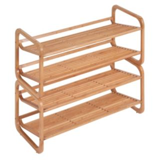 Honey-Can-Do 2 Tier Stackable Bamboo Shoe Shelf