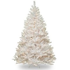 7-ft. Pre-Lit Winchester Pine Artificial White Christmas Tree