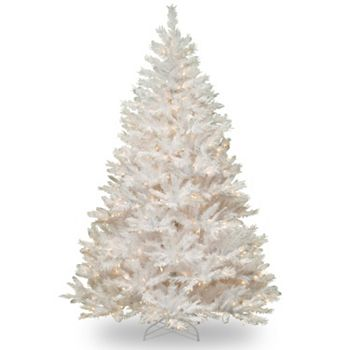pre lit winchester pine artificial white christmas tree