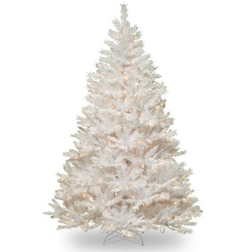 7 Ft Pre Lit Winchester Pine Artificial White Christmas Tree
