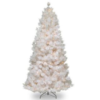 7.5-ft. Pre-Lit Wispy Willow Grande Artificial White Christmas Tree