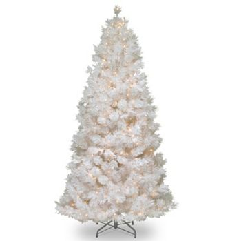 75 Ft Pre Lit Wispy Willow Grande Artificial White Christmas Tree
