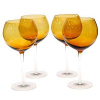 Certified International 4 pc Red Wine Glass Set