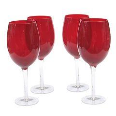 Certified International 4 pc White Wine Set