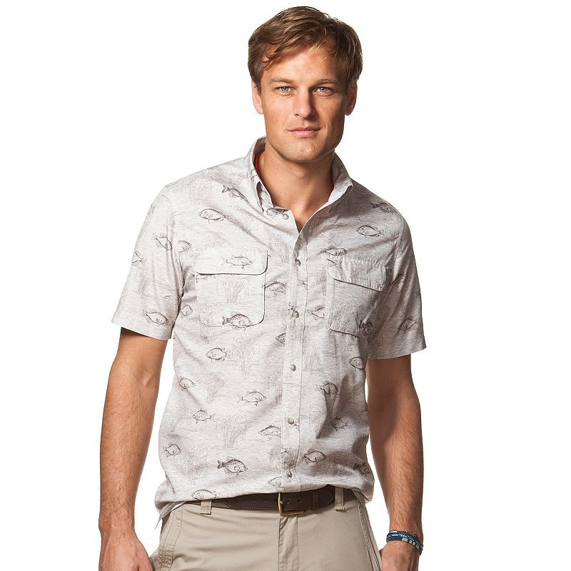 Men's Chaps Classic-Fit Fish Outdoor Casual Button-Down Shirt