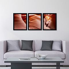 Trademark Fine Art ''Antelope Panorama II'' 3-pc. Framed Wall Art Set