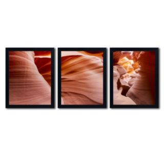 Trademark Fine Art ''Antelope Panorama II'' 3-pc. Framed Wall Art Set