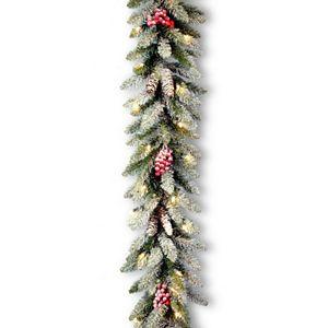 9-ft. Pre-Lit Snow, Berry & Pinecone Dunhill Fir Artificial Christmas Garland