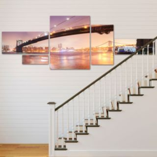 Trademark Fine Art ''Brooklyn Bridge Panoramic'' 5-pc. Wall Art Set