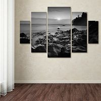 Trademark Fine Art ''Sunset At Ruby Beach'' 5 pc Wall Art Set