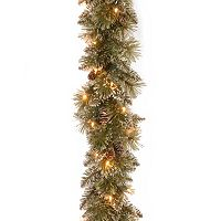9-ft. Pre-Lit Glittery Pineone Bristle Pine Artificial Garland