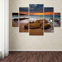 Trademark Fine Art ''Beach At Sunset'' 5 pc Wall Art Set