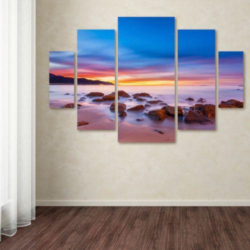 """Trademark Fine Art """"Mussel Shoals Morning"""" 5-pc. Wall Art Set"""