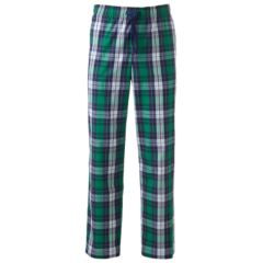 Mens Green Plaid Pajama Bottoms - Sleepwear, Clothing | Kohl's