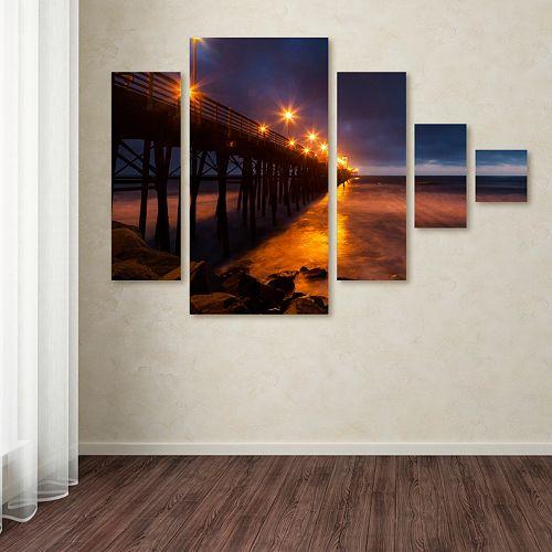 Trademark Fine Art ''Night Side'' 5-pc. Wall Art Set