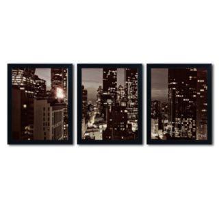 Trademark Fine Art ''NYC After Dark'' 3-pc. Wall Art Set