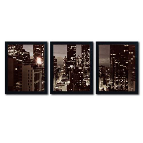 "Trademark Fine Art ""NYC After Dark"" 3-pc. Wall Art Set"