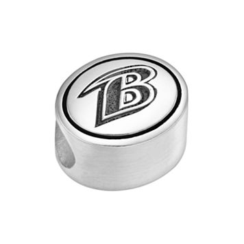 Sterling Silver Baltimore Ravens Logo Bead