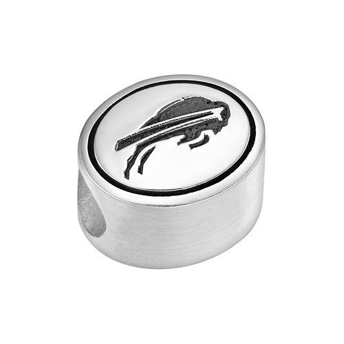 Sterling Silver Buffalo Bills Logo Bead
