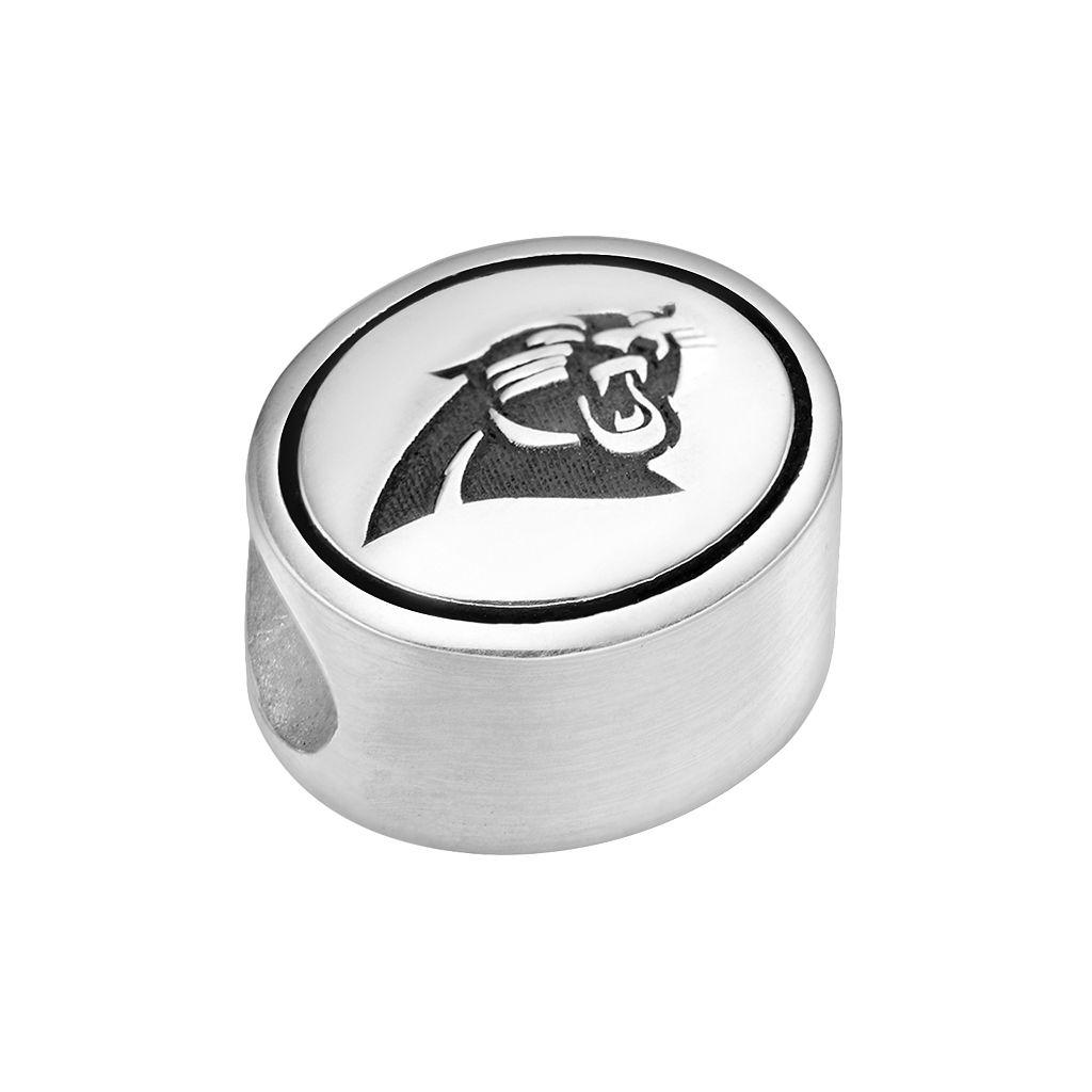 Sterling Silver Carolina Panthers Logo Bead