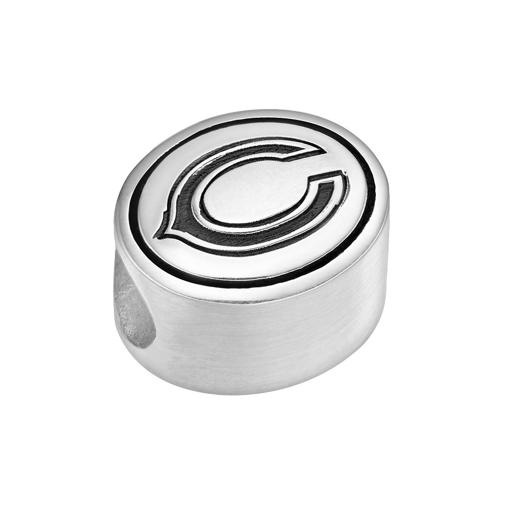 Sterling Silver Chicago Bears Logo Bead