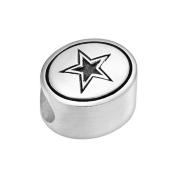 Sterling Silver Dallas Cowboys Logo Bead
