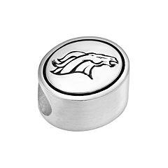 Sterling Silver Denver Broncos Logo Bead