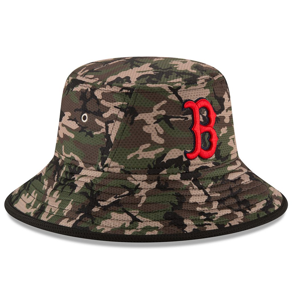 Youth New Era Boston Red Sox Redux Camo Bucket Hat