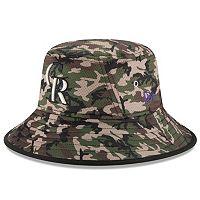 Youth New Era Colorado Rockies Redux Camo Bucket Hat