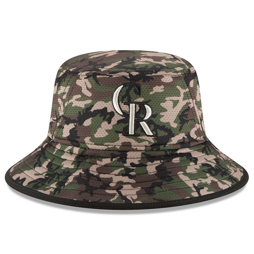 Youth New Era Colorado Rockies Redux Camo Bucket Hat
